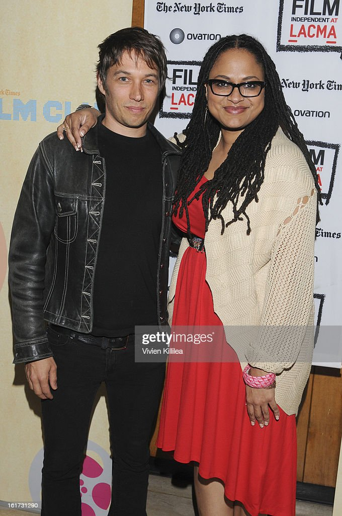 Directors Sean Baker and Ava DuVernay attend Cassavetes' 'Shadow 2013' - Film Independent Spirit Awards Nominee Discussion And Free Screening Co-Presented By The New York Times Film Club at Bing Theatre At LACMA on February 14, 2013 in Los Angeles, California.