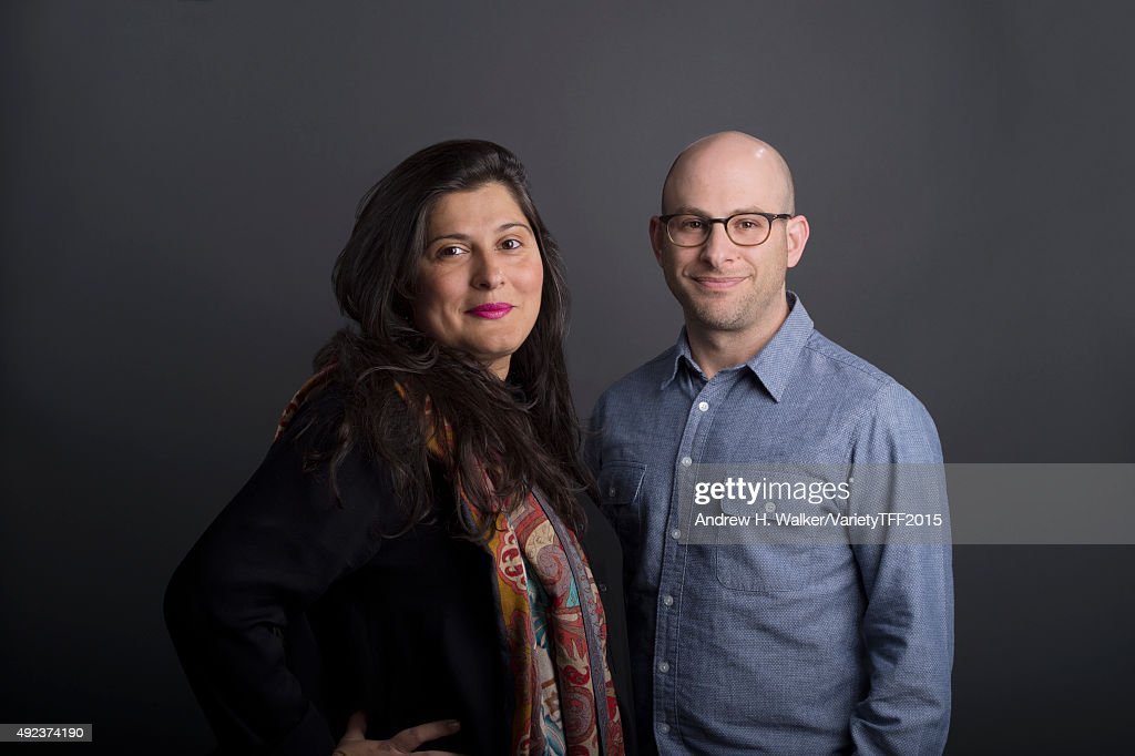 Directors <a gi-track='captionPersonalityLinkClicked' href=/galleries/search?phrase=Sharmeen+Obaid-Chinoy&family=editorial&specificpeople=5581145 ng-click='$event.stopPropagation()'>Sharmeen Obaid-Chinoy</a> and Andy Schocken are photographed for Variety at the Tribeca Film Festival on April 20, 2015 in New York City.