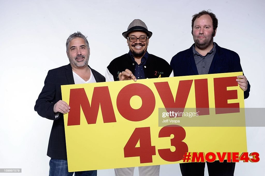 Directors Steve Carr, Rusty Cundieff and Will Graham pose for a portrait during Relativity Media's 'Movie 43' Los Angeles premiere at TCL Chinese Theatre on January 23, 2013 in Hollywood, California.