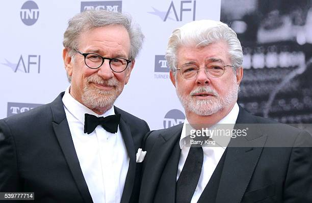 Directors Steven Spielberg and George Lucas attend American Film Institute's 44th Life Achievement Award Gala Tribute to John Williams at Dolby...