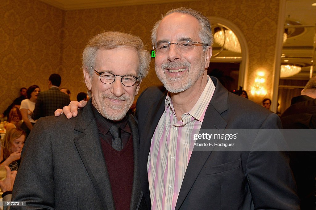 Directors <a gi-track='captionPersonalityLinkClicked' href=/galleries/search?phrase=Steven+Spielberg&family=editorial&specificpeople=202022 ng-click='$event.stopPropagation()'>Steven Spielberg</a> and <a gi-track='captionPersonalityLinkClicked' href=/galleries/search?phrase=Jon+Avnet&family=editorial&specificpeople=220482 ng-click='$event.stopPropagation()'>Jon Avnet</a> attend the 14th annual AFI Awards Luncheon at the Four Seasons Hotel Beverly Hills on January 10, 2014 in Beverly Hills, California.
