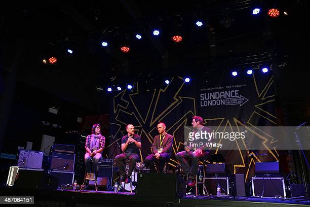 Directors Sydney Freeland David Zellner Charlie McDowell and moderator attend the Truly Independent Visions BB Sessions during the Sundance London...