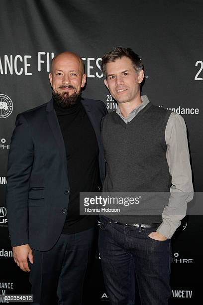 Directors Tarik Saleh and John Nein attend 'The Nile Hilton Incident' Premiere on day 3 of the 2017 Sundance Film Festival at Prospector Square on...