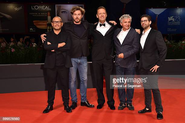 Directors Thierry Demaiziere Alban Teurlai Rocco Siffredi and guests attend the premiere of 'Rocco' during the 73rd Venice Film Festival at Sala...
