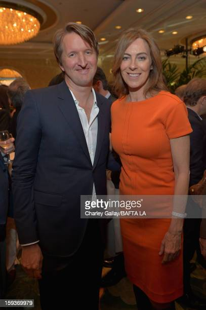 Directors Tom Hooper and Kathryn Bigelow attend the BAFTA Los Angeles 2013 Awards Season Tea Party held at the Four Seasons Hotel Los Angeles on...