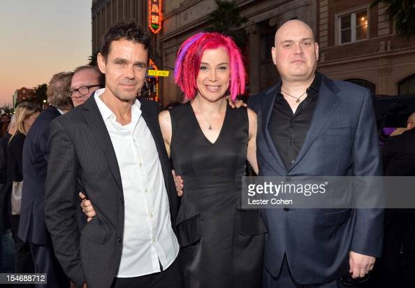 Directors Tom Tykwer Lana Wachowski and Andy Wachowski arrive at the Los Angeles premiere of 'Cloud Atlas' at Grauman's Chinese Theatre on October 24...