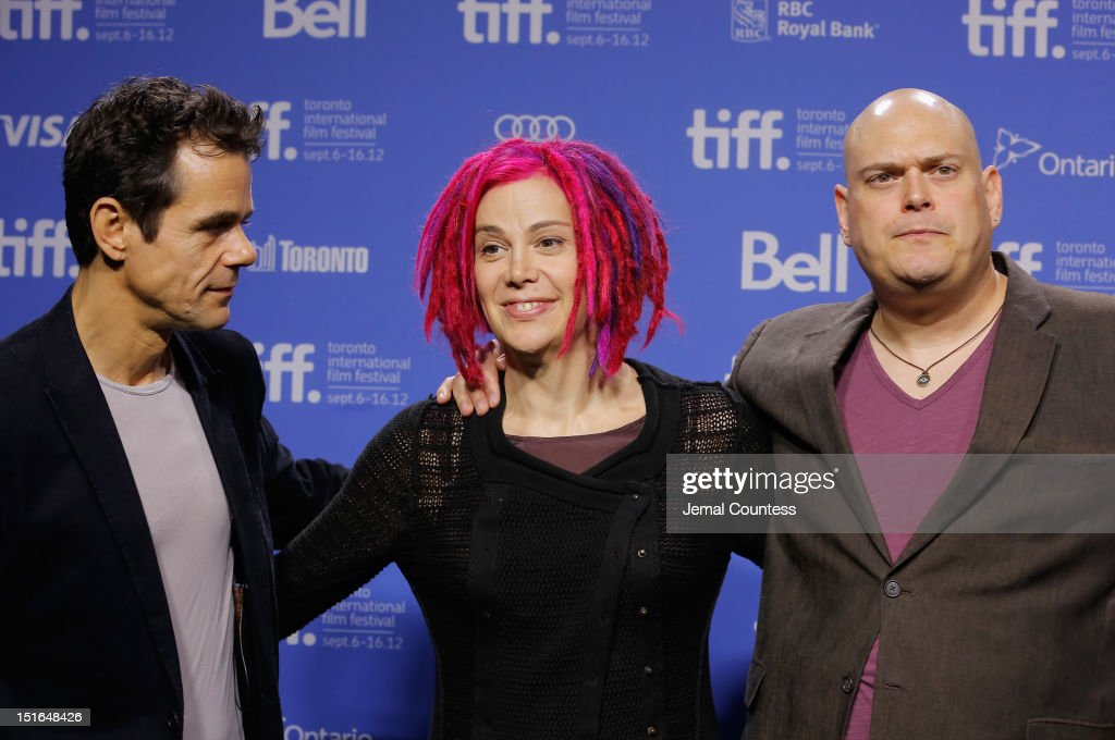 Directors Tom Tykwer Lana Wachowski and Andy Wachowski attend 'Cloud Atlas' Photo Call during the 2012 Toronto International Film Festival at TIFF...