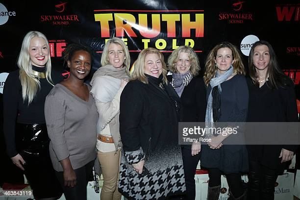 Directors Valerie Veatch Effie T Brown Rory Kennedy Lucy Webb Lori Cheatle Tracy Droz Tragos and Hilla Medalia attends Women In Film Presents Eighth...