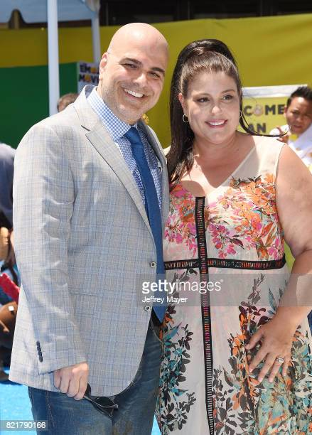 Director/Screenplay/story Tony Leondis and producer Michelle Raimo Kouyate arrive at the Premiere Of Columbia Pictures And Sony Pictures Animation's...