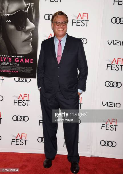 Director/screenwriter Aaron Sorkin attends AFI FEST 2017 Closing Night Gala Screening of 'Molly's Game' at TCL Chinese Theatre on November 16 2017 in...