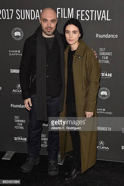 Director/screenwriter David Lowery and actress Rooney Mara attend the 'A Ghost Story' Premiere on day 4 of the 2017 Sundance Film Festival at Library...