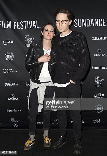 Director/Screenwriter Kristen Stewart and actor Josh Kaye attend the Premiere of her movie 'Come Swim' at 2017 Sundance Film Festival in Park City...