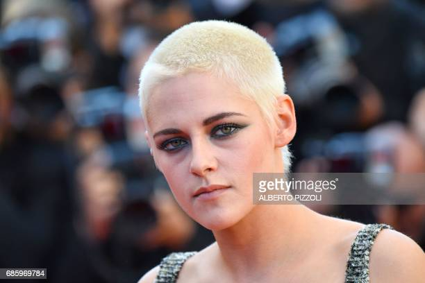 TOPSHOT Director/Screenwriter Kristen Stewart poses as she arrives on May 20 2017 for the screening of the film '120 Beats Per Minute ' at the 70th...