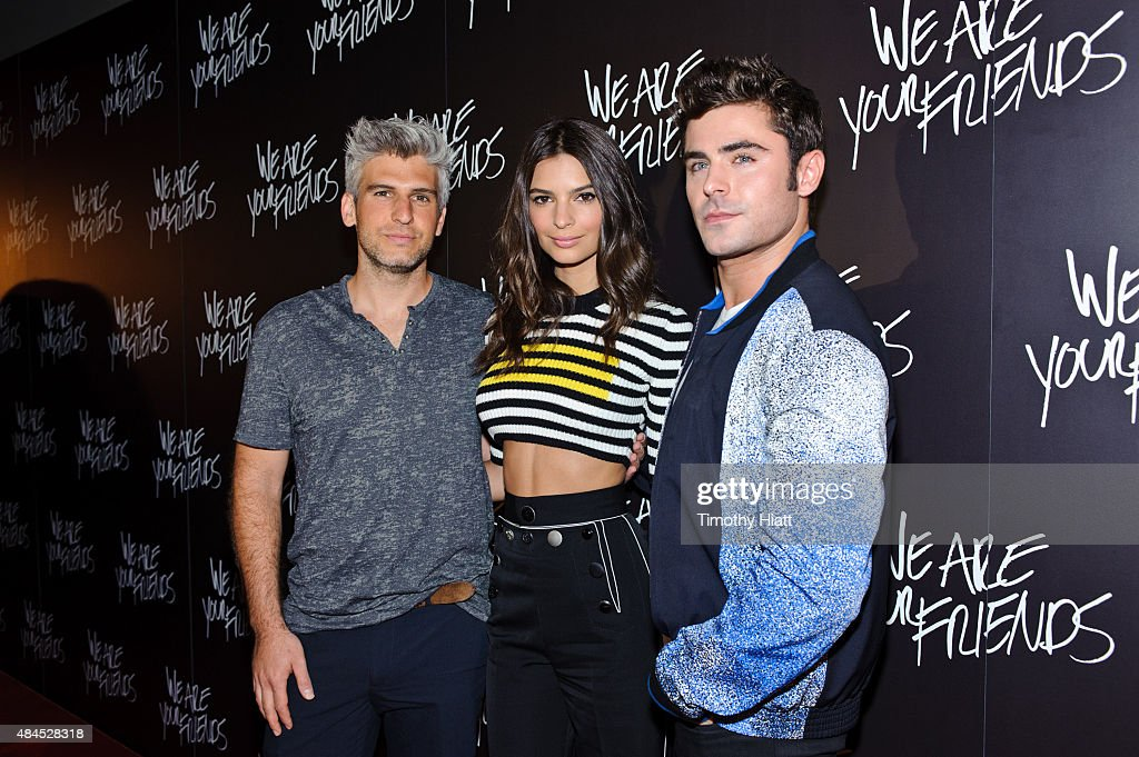 Director/Screenwriter Max Joseph, Emily Ratajkowski, and Zac Efron attend the Chicago premiere of 'We Are Your Friends' at Showplace Icon Theater on August 19, 2015 in Chicago, Illinois.