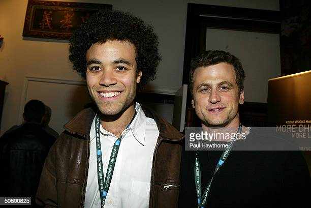 Director/screenwriter of BxEd Ernest Leif Boyd and director/screenwriter/actor David Moscow pose at the Kodak Producers' Reception during the 2004...