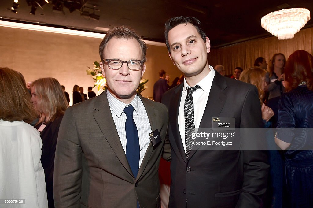 Director/screenwriters Tom McCarthy (L) and <a gi-track='captionPersonalityLinkClicked' href=/galleries/search?phrase=Adam+Benzine&family=editorial&specificpeople=8809965 ng-click='$event.stopPropagation()'>Adam Benzine</a> attend the 88th Annual Academy Awards nominee luncheon on February 8, 2016 in Beverly Hills, California.