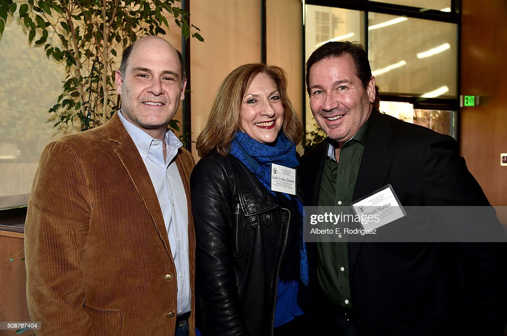 Directors/nominees <a gi-track='captionPersonalityLinkClicked' href=/galleries/search?phrase=Matthew+Weiner&family=editorial&specificpeople=4148376 ng-click='$event.stopPropagation()'>Matthew Weiner</a>, Lesli Linka Glatter and David Nutter attend the 68th Annual Directors Guild Of America Awards Feature Film Symposium at Directors Guild of America on February 6, 2016 in Los Angeles, California.