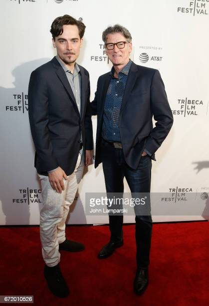 Directors/producers Adrian Buitenhuis and Derik Murray attend 'I Am Heath Ledger ' during the 2017 Tribeca Film Festival at Spring Studios on April...