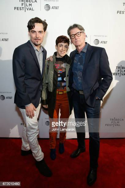 Directors/producers Adrian Buitenhuis and Derik Murray join producer Jaimee Kosanke during the 'I Am Heath Ledger ' during the 2017 Tribeca Film...