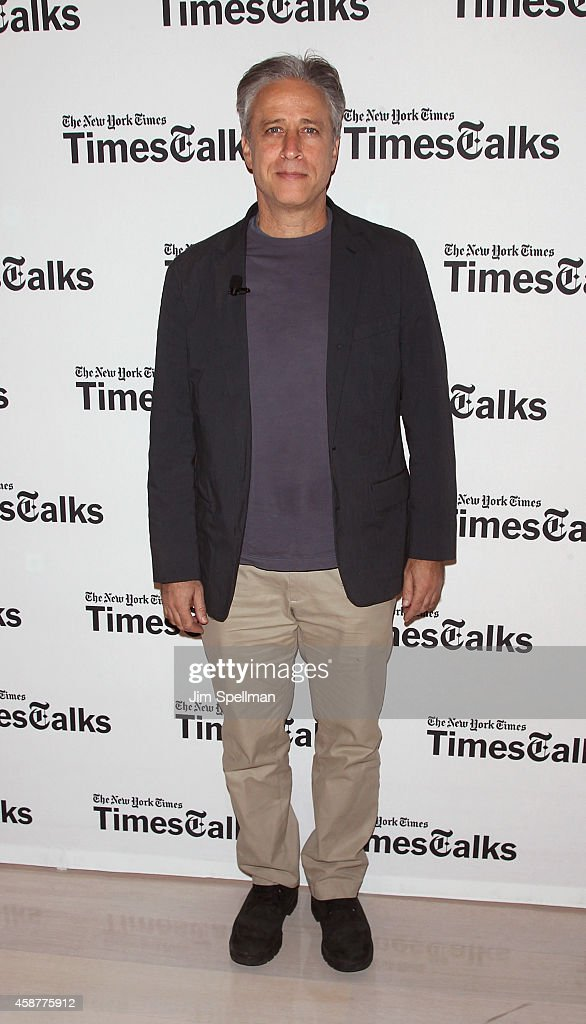 Director/tv personality Jon Stewart attends the TimesTalks with Jon Stewart and Maziar Bahari at TheTimesCenter on November 10, 2014 in New York City.