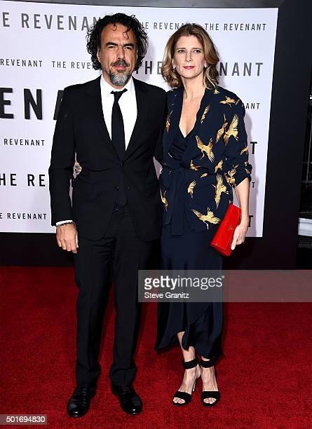 Director/writer Alejandro Gonzalez Inarritu and Maria Eladia Hagerman attend the premiere of 20th Century Fox and Regency Enterprises' 'The Revenant'...