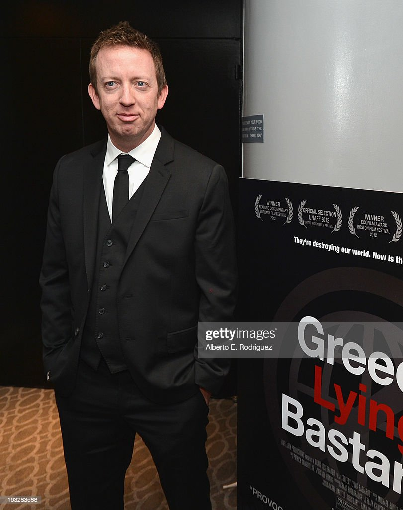 Director/writer Craig Scott Rosenbraugh attends a screening of 1 Earth Productions' 'Greedy Lying Bastards' at Harmony Gold Theatre on March 6, 2013 in Los Angeles, California.