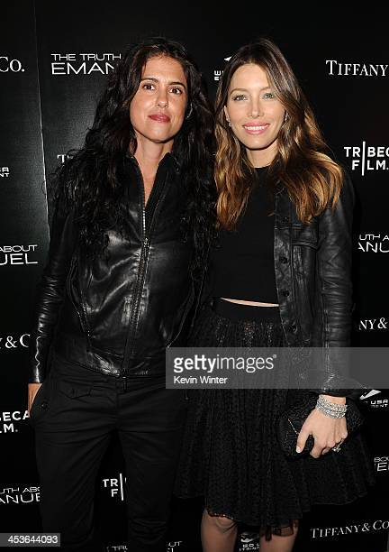 Director/Writer Francesca Gregorini and actress Jessica Biel arrive at the premiere of Tribeca Film and Well Go USA's 'The Truth About Emanuel' at...