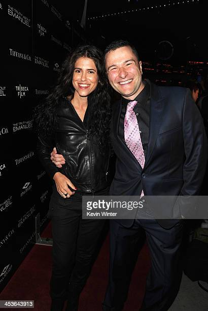 Director/Writer Francesca Gregorini and Producer Matt Brady arrive at the premiere of Tribeca Film and Well Go USA's 'The Truth About Emanuel' at...