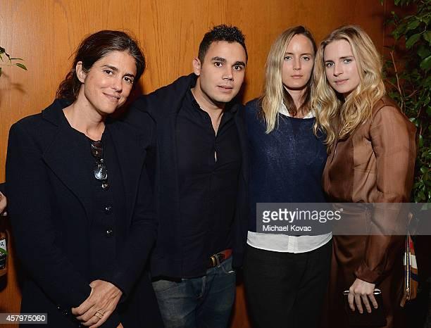 Director/writer Francesca Gregorini musician Rostam Batmanglij producer Morgan Marling and actor Brit Marling attend the Los Angeles Premiere of...