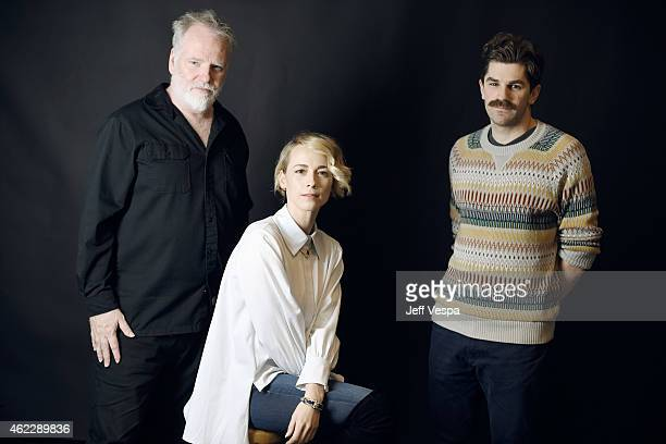 Director/writer Guy Maddin actress Karine Vanasse and director/writer Evan Johnson of 'The Forbidden Room' pose for a portrait at the Village at the...