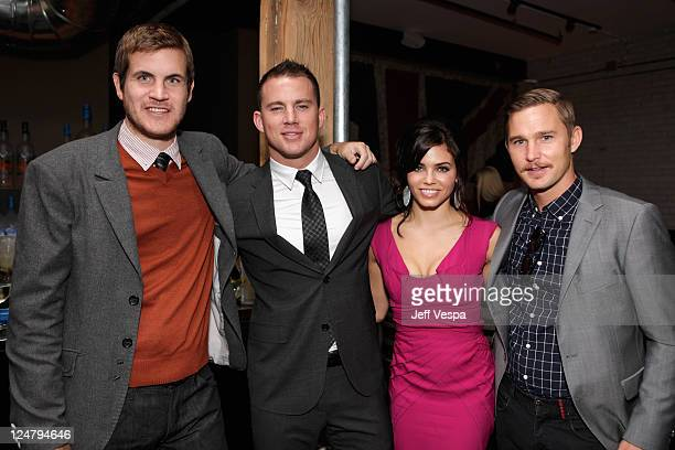 Director/Writer Jamie Linden Actor Channing Tatum Actress Jenna DewanTatum and Actor Brian Geraghty attend the 'Ten Year' dinner hosted by GREY GOOSE...