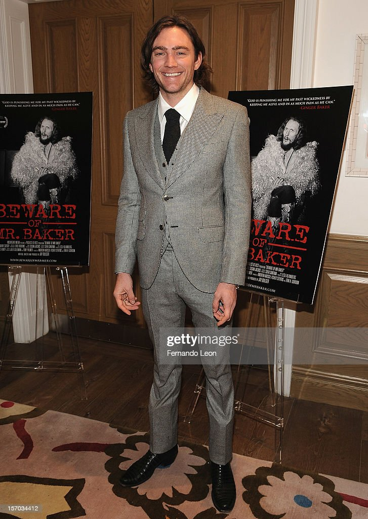 Director/writer Jay Bulger attends the 'Beware Of Mr. Baker' New York Screening at Crosby Street Hotel on November 27, 2012 in New York City.