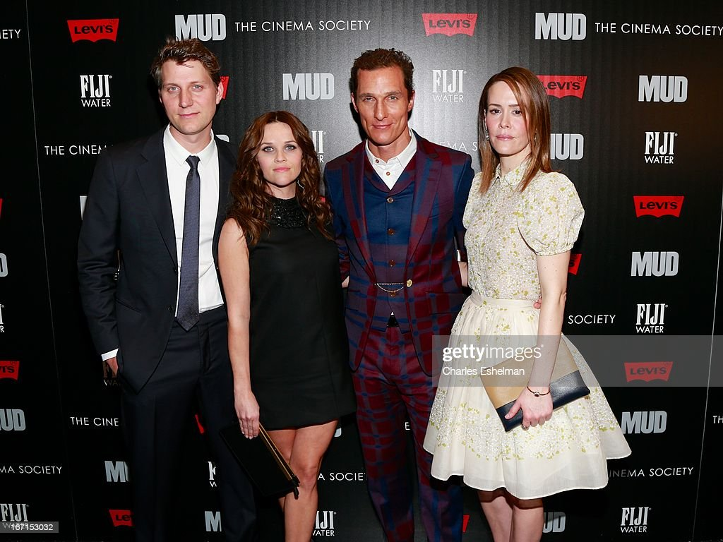 Director/writer Jeff Nichols, actors Reese Witherspoon, Matthew McConaughey and Sarah Paulson attend The Cinema Society with FIJI Water & Levi's screening of 'Mud' at The Museum of Modern Art on April 21, 2013 in New York City.