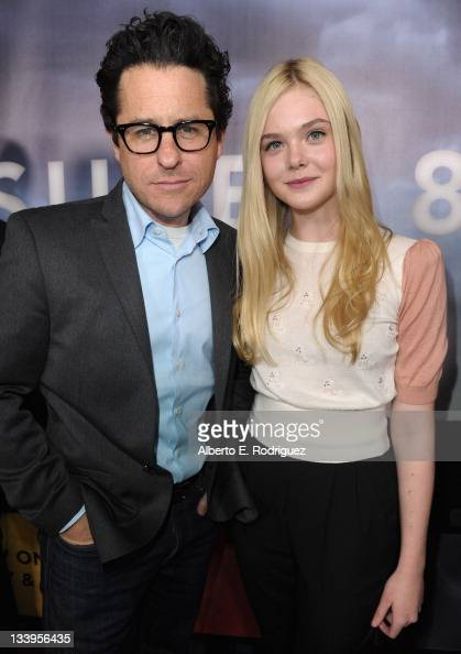 Director/Writer JJ Abrams and actress Elle Fanning arrive to Paramount Pictures' 'Super 8' Bluray and DVD release party at AMPAS Samuel Goldwyn...