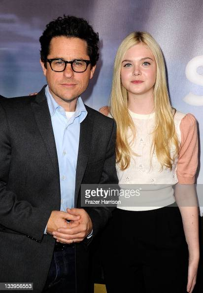 Director/writer JJAbrams and actress Elle Fanning arrives at Paramount Pictures' 'Super 8' Bluray and DVD release party at AMPAS Samuel Goldwyn...