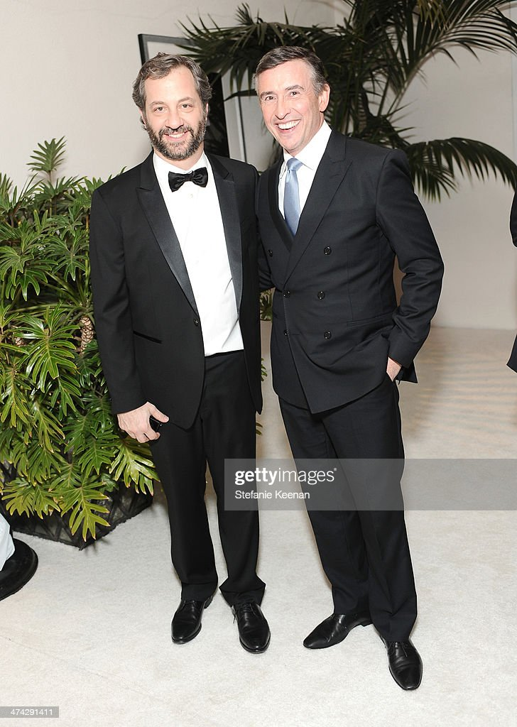 Director/writer Judd Apatow (L) and actor Steve Coogan attend the 16th Costume Designers Guild Awards with presenting sponsor Lacoste at The Beverly Hilton Hotel on February 22, 2014 in Beverly Hills, California.