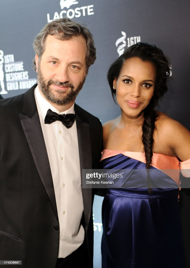 Director/writer <a gi-track='captionPersonalityLinkClicked' href=/galleries/search?phrase=Judd+Apatow&family=editorial&specificpeople=854225 ng-click='$event.stopPropagation()'>Judd Apatow</a> (L) and actress <a gi-track='captionPersonalityLinkClicked' href=/galleries/search?phrase=Kerry+Washington&family=editorial&specificpeople=201534 ng-click='$event.stopPropagation()'>Kerry Washington</a> attend the 16th Costume Designers Guild Awards with presenting sponsor Lacoste at The Beverly Hilton Hotel on February 22, 2014 in Beverly Hills, California.