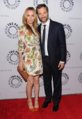 Director/writer Judd Apatow and wife actress Leslie Mann attend 'Oddly Familiar A Ben Stiller Show Reunion' at Paley Center For Media on November 10...