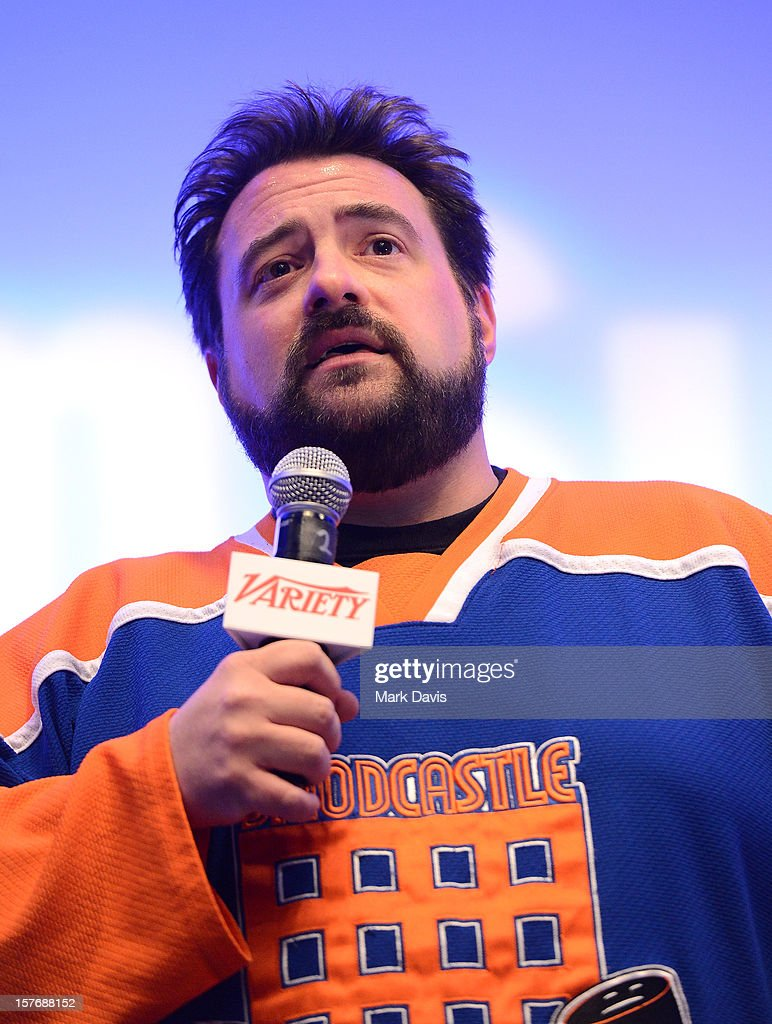 Director-Writer <a gi-track='captionPersonalityLinkClicked' href=/galleries/search?phrase=Kevin+Smith+-+Film+Director&family=editorial&specificpeople=5102286 ng-click='$event.stopPropagation()'>Kevin Smith</a> speaks onstage during a Keynote Conversation at the Future Of Film Summit: Finding Success In The Digital Age Produced By Variety And Digital Media Wire at Sofitel Hotel on December 5, 2012 in Los Angeles, California.