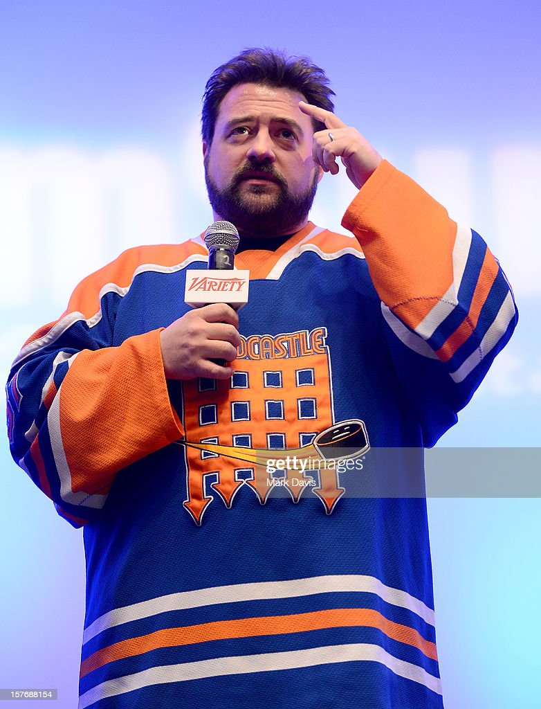 Director-Writer <a gi-track='captionPersonalityLinkClicked' href=/galleries/search?phrase=Kevin+Smith+-+Regista&family=editorial&specificpeople=5102286 ng-click='$event.stopPropagation()'>Kevin Smith</a> speaks onstage during a Keynote Conversation at the Future Of Film Summit: Finding Success In The Digital Age Produced By Variety And Digital Media Wire at Sofitel Hotel on December 5, 2012 in Los Angeles, California.