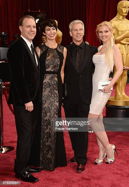 Director/writer Kirk DeMicco Kacey DeMicco director/writer Chris Sanders and Jessica Steele attend the Oscars held at Hollywood Highland Center on...