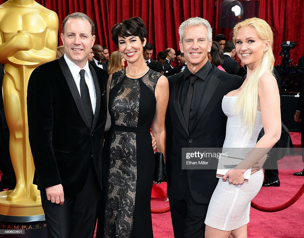 Director/writer Kirk DeMicco, Kacey DeMicco, director/writer Chris Sanders and Jessica Steele attend the Oscars held at Hollywood & Highland Center on March 2, 2014 in Hollywood, California.