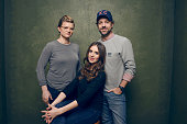 Director/writer Leslye Headland actors Alison Brie and Jason Sudeikis of 'Sleeping with Other People' pose for a portrait at the Village at the Lift...