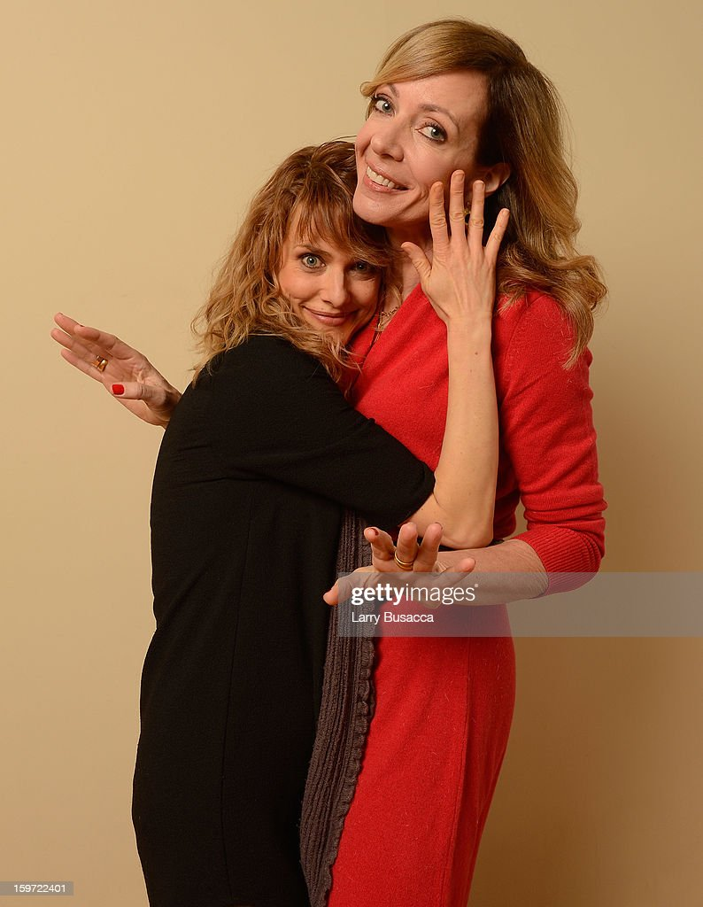 Director/writer Lynn Shelton and actress <a gi-track='captionPersonalityLinkClicked' href=/galleries/search?phrase=Allison+Janney&family=editorial&specificpeople=206290 ng-click='$event.stopPropagation()'>Allison Janney</a> pose for a portrait during the 2013 Sundance Film Festival at the Getty Images Portrait Studio at Village at the Lift on January 19, 2013 in Park City, Utah.