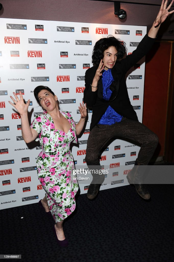 Director/writer Lynne Ramsay and actor Ezra Miller attend the 'We Need To Talk About Kevin' premiere during the 55th BFI London Film Festival at The...