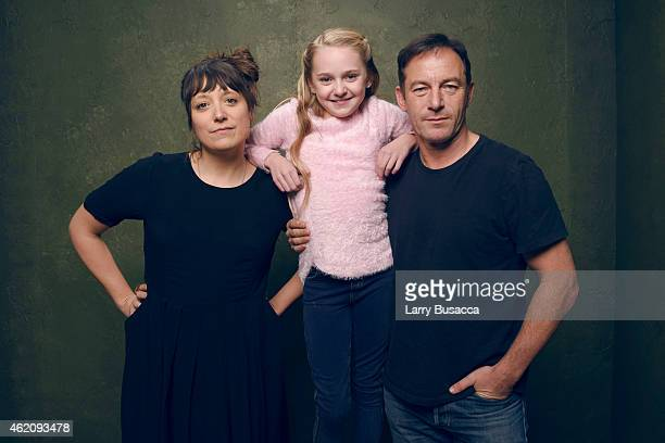 Director/writer Nikole Beckwith actress Avery Phillips and actor Jason Isaacs from 'Stockholm Pennsylvania' pose for a portrait at the Village at the...