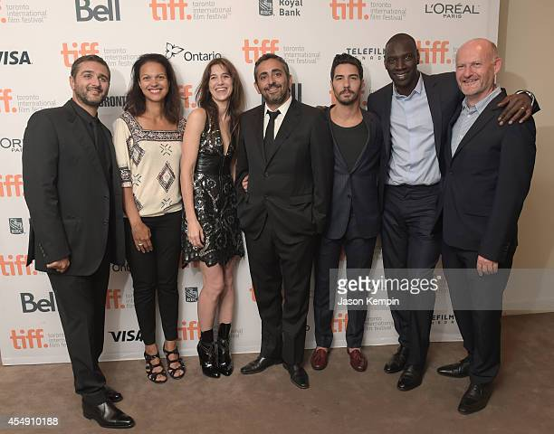 Director/writer Olivier Nakache executive director of uniFrance Films Isabelle Giordano actress Charlotte Gainsbourg director/writer Eric Toledano...