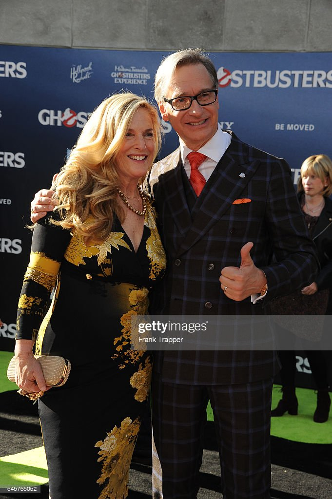Director/writer Paul Feig and wife Laurie Karon attend the premiere of Sony Pictures' 'Ghostbusters' held at TCL Chinese Theater on July 9 2016 in...