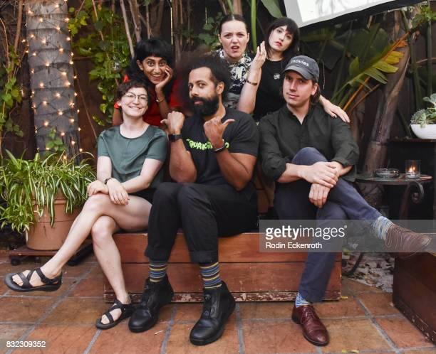 Director/writer Rachel Wolther Sunita Mani Reggie Watts Eleanore Pienta Tallie Medel and Director/writer Alex Huston Fischer pose for portrait at the...