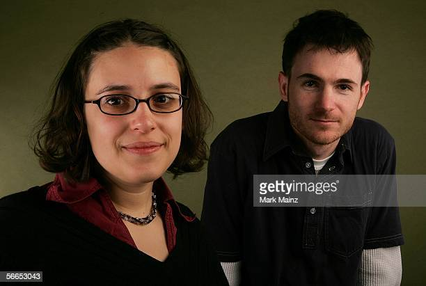 Director/writer Ryan Fleck and writer Anna Boden of the film 'Half Nelson' pose for a portrait at the Getty Images Portrait Studio during the 2006...